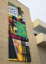 """""""Garden Quilt,"""" a new public art display at 50th and France."""