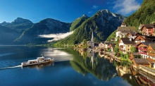 The village of Hallstatt, Austria, inspiration for Frozen's Arendelle.