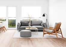 A clean living room. Decluttering is one of the first things to do when selling your home.