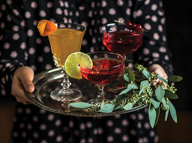 Cranberry drinks created from recipes from Hilltop Restaurant, Coalition and Lunds and Byerlys in Edina; also cranberry streusel from Patisserie Margo.