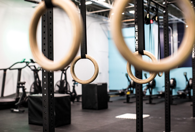 Workout equipment at AQ Fit Lab in Edina.