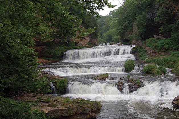 A waterfall at Willow River State Park