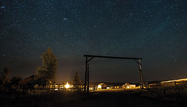 The night sky as seen from Mulvey Gulch Ranch